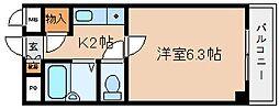 兵庫県神戸市兵庫区塚本通3丁目の賃貸マンションの間取り