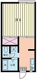 第二稲荷山ハイツ[2階]の間取り