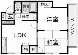 菊水ハイツ[2階]の間取り