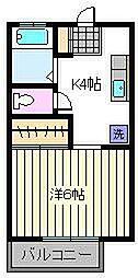 ステイツコイケ[1階]の間取り