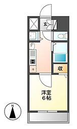 プレサンス名古屋STATIONアブソリュート[3階]の間取り