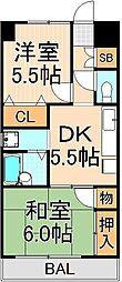 ゴールドマンション[407号室]の間取り