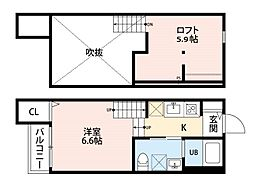 ARK(エーアールケー) 福岡歯科大前[2階]の間取り