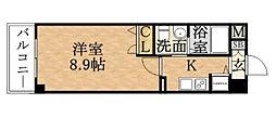 プロシード京橋[905号室]の間取り