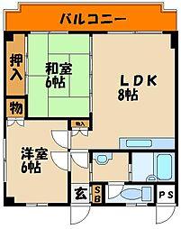 第366川辺ビル[3階]の間取り