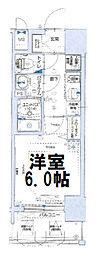 グランカリテ大阪城イースト 3階1Kの間取り