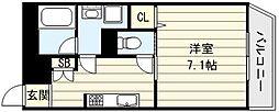 ティーアップスクエアー[1階]の間取り