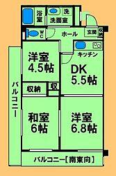 神奈川県相模原市緑区西橋本3丁目の賃貸マンションの間取り