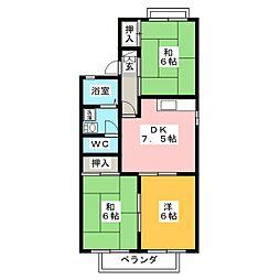 静岡県静岡市葵区上土1丁目の賃貸アパートの間取り