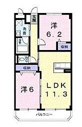 レフィナードII[2階]の間取り