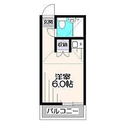 東京都西東京市保谷町1丁目の賃貸アパートの間取り