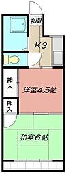 杉原マンション[302号室]の間取り
