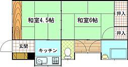[一戸建] 神奈川県横須賀市追浜町2丁目 の賃貸【/】の間取り