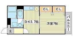 兵庫県姫路市辻井9丁目の賃貸アパートの間取り