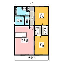 Recente和田 A[1階]の間取り