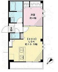 東京都板橋区常盤台3丁目の賃貸マンションの間取り