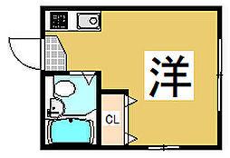 東京都北区赤羽台4丁目の賃貸アパートの間取り