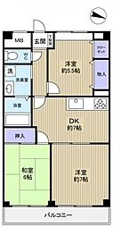 久保田ビル[3階]の間取り