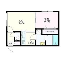 MONI HIBARIGAOKA(モニヒバリガオカ)[2階]の間取り