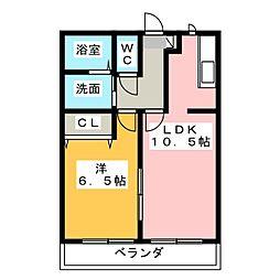 ホウケンアパート池之表[2階]の間取り