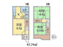 千葉県流山市西初石の賃貸アパートの間取り