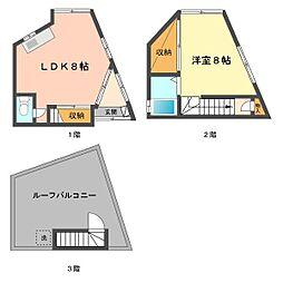 [一戸建] 東京都葛飾区細田3丁目 の賃貸【/】の間取り