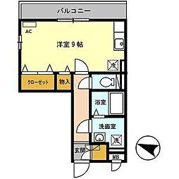 メゾン・プレミール[201号室]の間取り