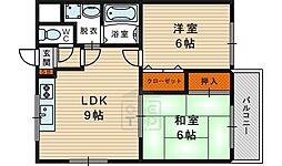 イスタナ 2階2LDKの間取り