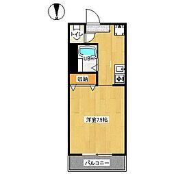 京都市営烏丸線 九条駅 徒歩6分の賃貸アパート 1階ワンルームの間取り