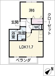 スリーOK[1階]の間取り