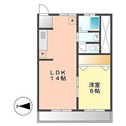 名古屋駅西ビル[4階]の間取り