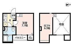 大阪府大阪市東成区深江南2丁目の賃貸アパートの間取り
