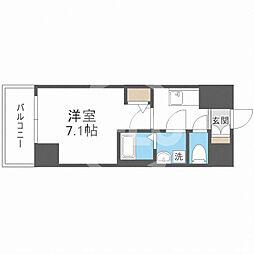 サムティ福島Rufle(ルフレ) 3階1Kの間取り