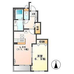 (仮称)日立市田尻町新築アパート[102号室]の間取り