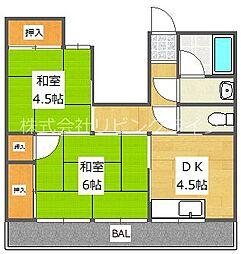トナミマンション[3階]の間取り