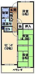 メゾンクリサンテーム[110号室号室]の間取り