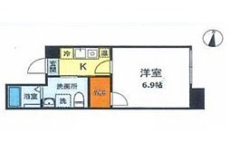 JR京浜東北・根岸線 大森駅 徒歩14分の賃貸マンション 4階1Kの間取り
