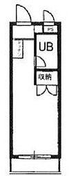 スカイコート八王子第二[4階]の間取り