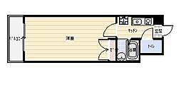 F's flats古船場[1106号室]の間取り