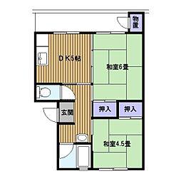 戸塚深谷[2階]の間取り