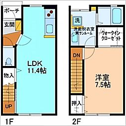 L'Arc  D棟[D-2号室]の間取り