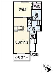 エトワール藤方 IV[1階]の間取り