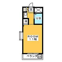 ジョイフル原VI[4階]の間取り