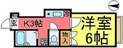 東京都葛飾区東新小岩8丁目の賃貸アパートの間取り