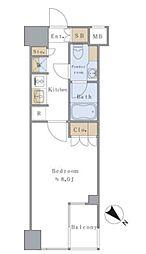 JR中央線 千駄ヶ谷駅 徒歩4分の賃貸マンション 6階1Kの間取り