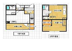 JR鹿児島本線 福間駅 徒歩5分の賃貸アパート 2階1DKの間取り