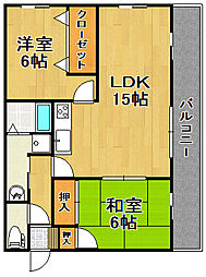 クラモトマンション[6階]の間取り