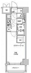 都営新宿線 西大島駅 徒歩4分の賃貸マンション 5階1Kの間取り