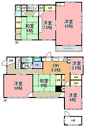 [一戸建] 茨城県水戸市新荘1丁目 の賃貸【茨城県 / 水戸市】の間取り