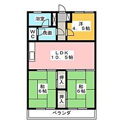 マンション大日[2階]の間取り